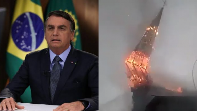 """Eduardo Bolsonaro sobre incêndios em igrejas no Chile: """"O presidente está certo ao falar em Cristofobia. Alguma dúvida de quanto o comunismo odeia a fé Cristã?"""""""