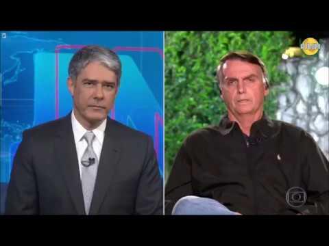 Jair Bolsonaro e Fernando Hadadd no Jornal Nacional 08/10/2018