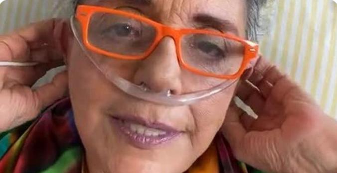 Com Covid-19, Leda Nagle grava vídeo em hospital: 'Estou animada, sou guerreira e estou indo bem'