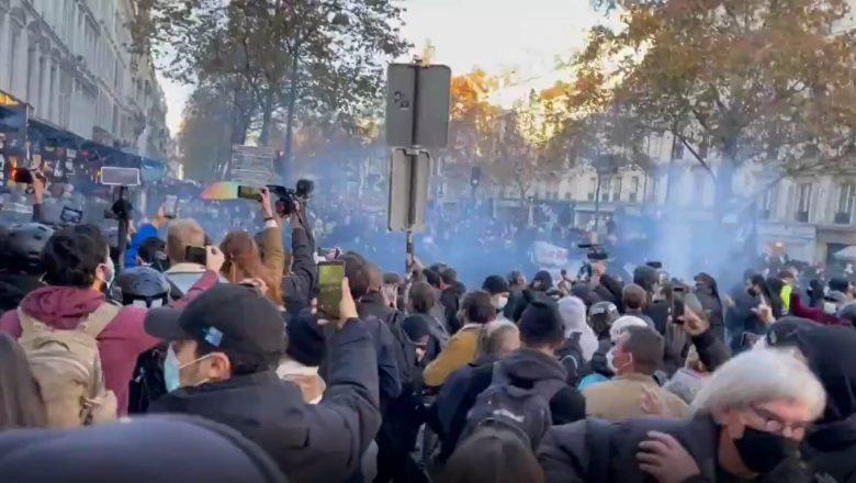 Na França, milhares protestam contra governo Macron