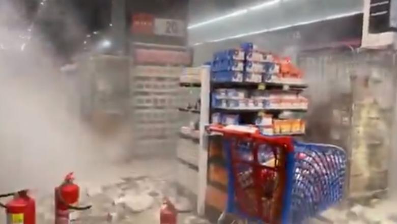 Vídeo: Manifestantes ateiam fogo em supermercado durante protesto contra o racismo