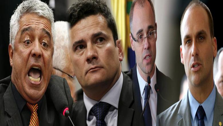 Bate-boca nas redes envolve Sérgio Moro, Eduardo Bolsonaro, Major Olímpio e André Mendonça