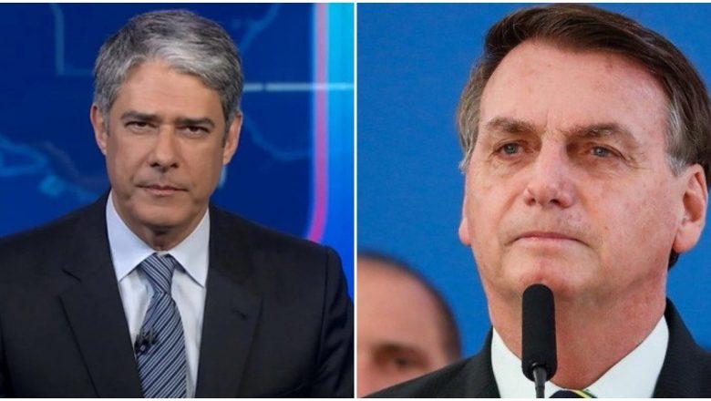 Bolsonaro confronta Globo, empareda William Bonner, e faz severas críticas contra colunista Ancelmo Gois