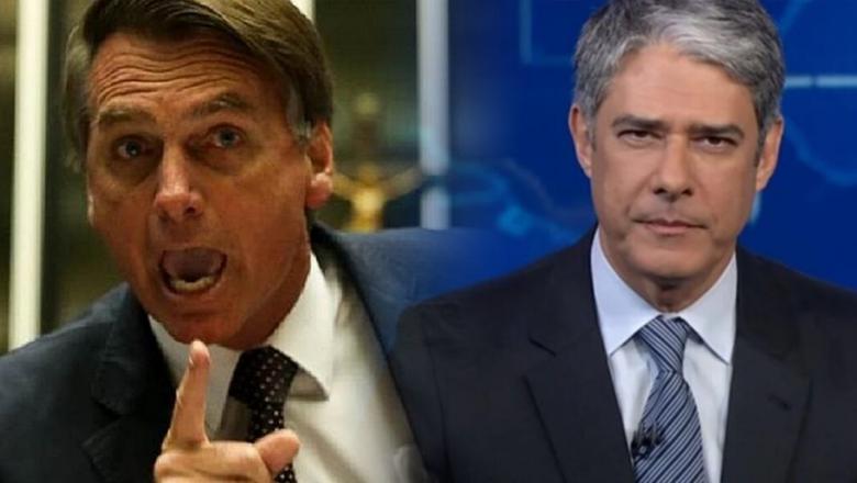 """Bolsonaro manda recado para William Bonner: """"Sem vergonha"""" (Assista ao vídeo)"""