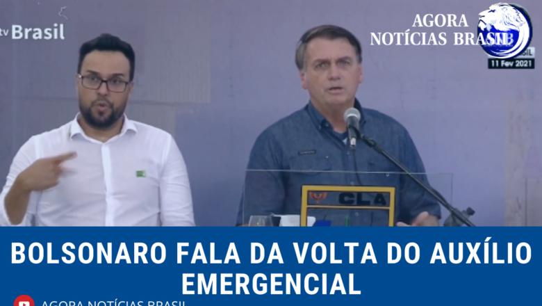 Auxílio deve voltar em março e por até 4 meses, diz Bolsonaro
