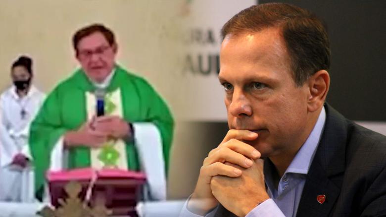 """Padre detona Doria e o compara com ditadores: """"Cadê o dinheiro que foi lá para São Paulo?"""""""