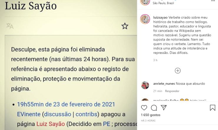 Pastor Luiz Sayão é vítima de intolerância e repressão