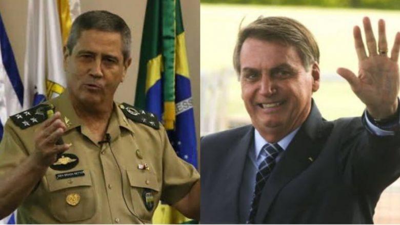 Novo ministro da Defesa, General Braga Netto faz pronunciamento e salienta que Bolsonaro é o comandante das Forças Armadas