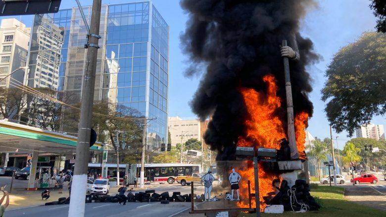 Polícia prende suspeito de apoiar incêndio contra estátua de Borba Gato em SP – Folha de S.Paulo