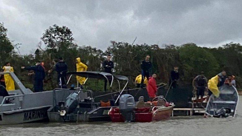 Naufrágio deixa seis mortos no Rio Paraguai, região do Pantanal
